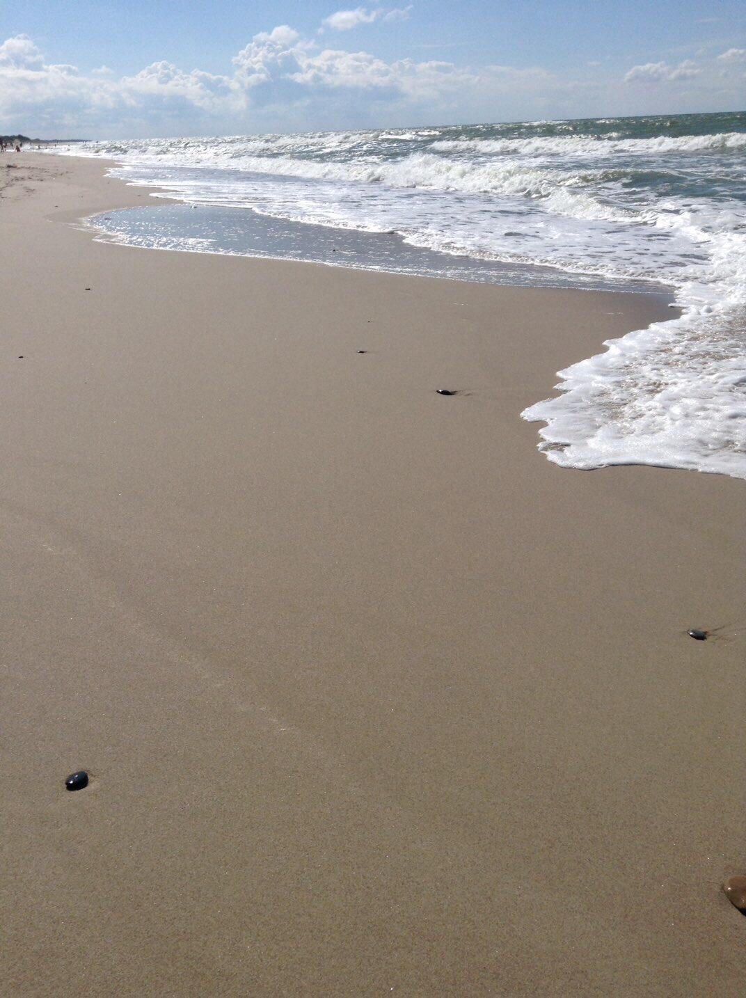 Sandy Beach and Waves Image