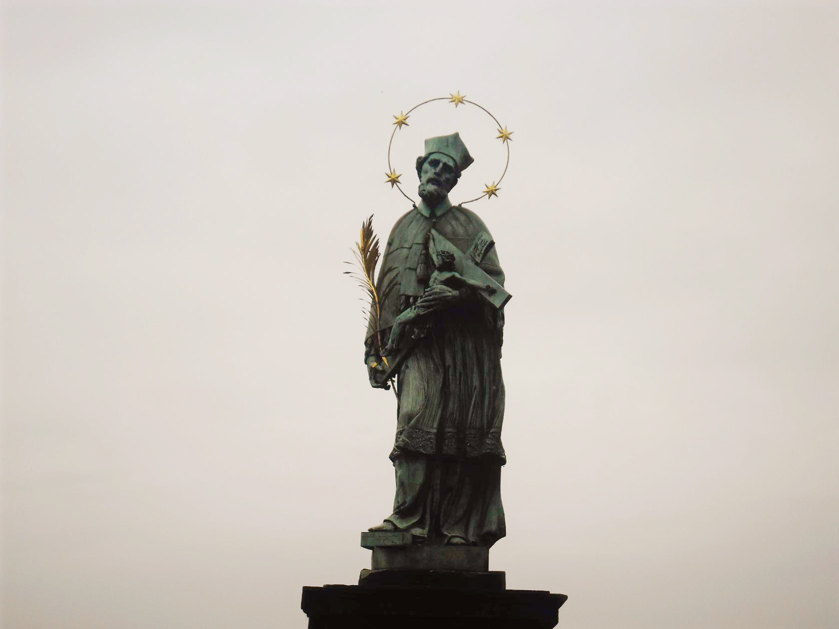 The Charles Bridge, Jan Nepomuk statue (Prague) Image
